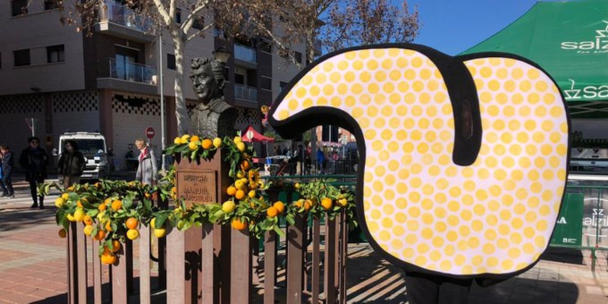 La mascota de Murcia Capital Gastronómica 2020