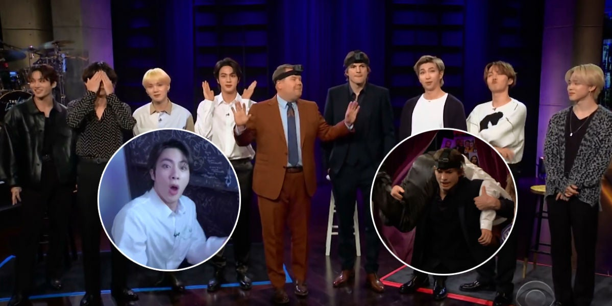 BTS juega al escondite con James Corden y Ashton Kutcher