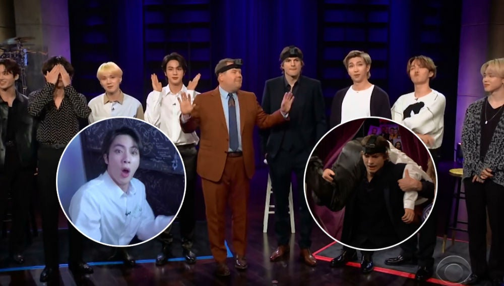 BTS juega al escondite con James Corden y Ashton Kutcher