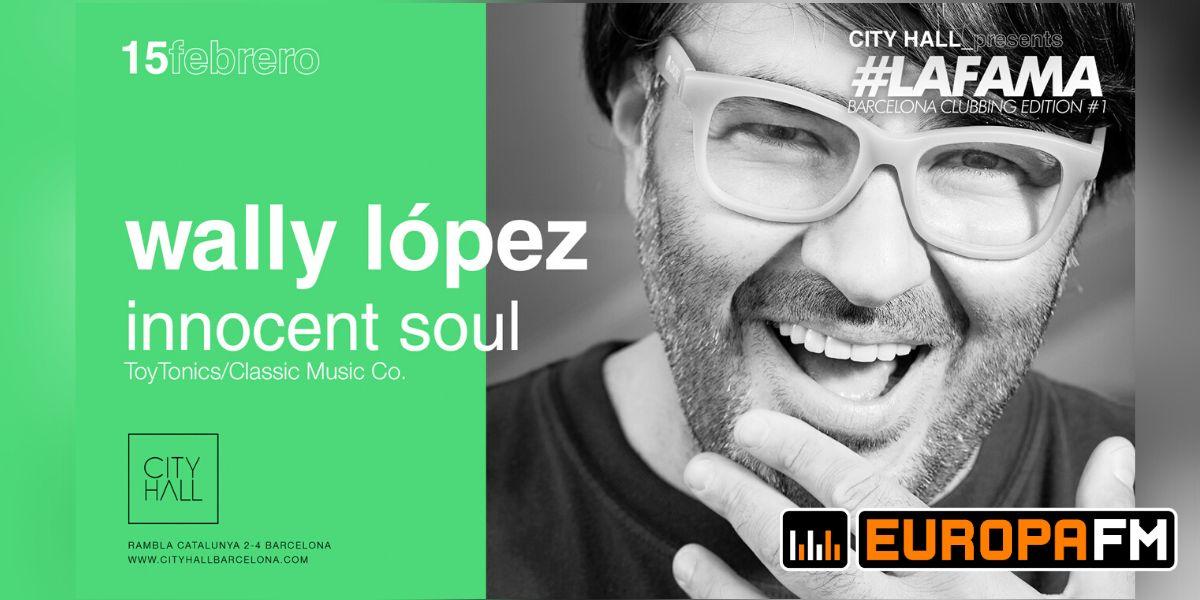 Wally Lopez en la sala City Hall de Barcelona