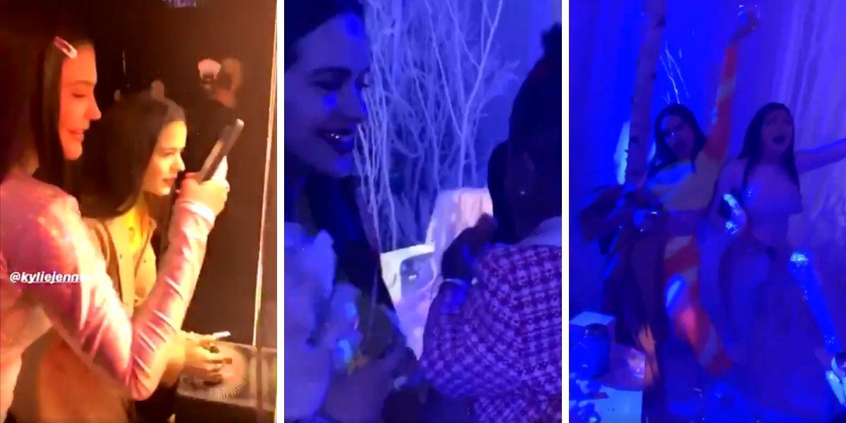 Rosalía en la fiesta de cumpleaños de Stormi, la hija de Kylie Jenner