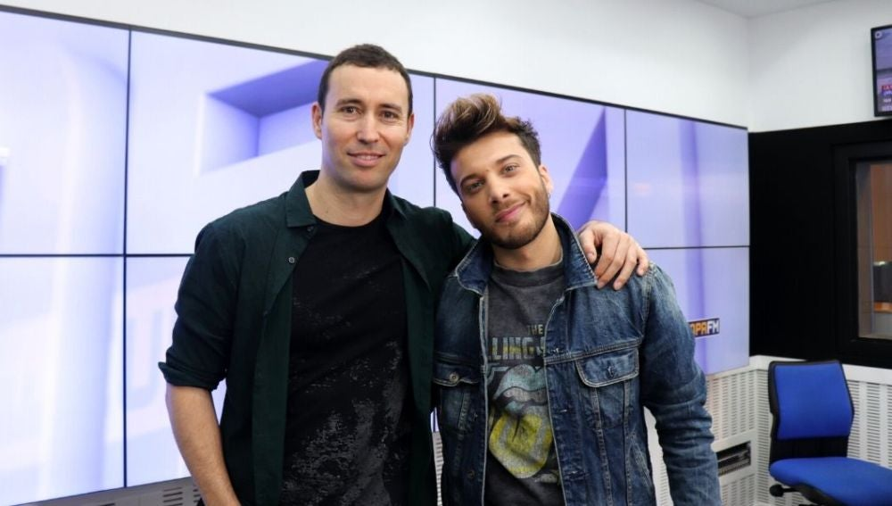 Blas Cantó y Juan Sánchez en la entrevista en Europa FM