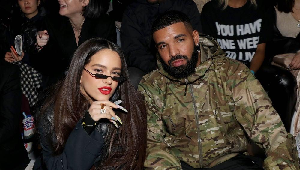Rosalía y Drake en la presentación de la colección Tokyo Olympic en Nueva York