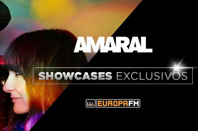 Showcases de AMARAL con Europa FM