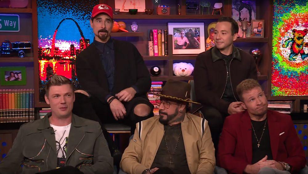 Los Backstreet Boys durante el programa Watch What Happens Live with Andy Cohen!