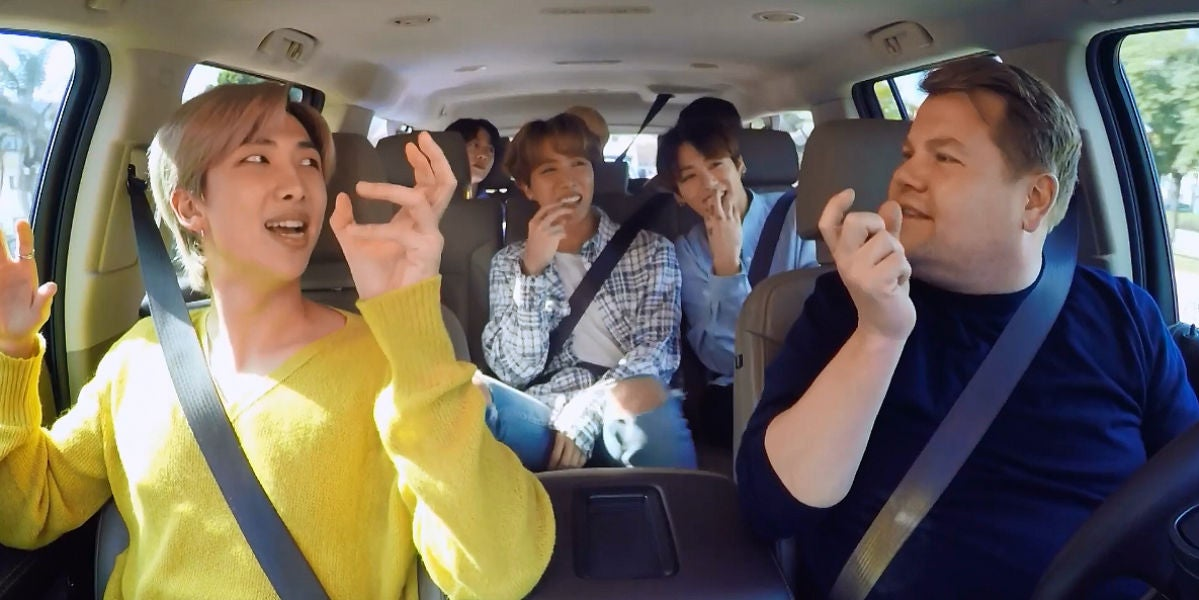BTS en el Carpool Karoke con James Corden