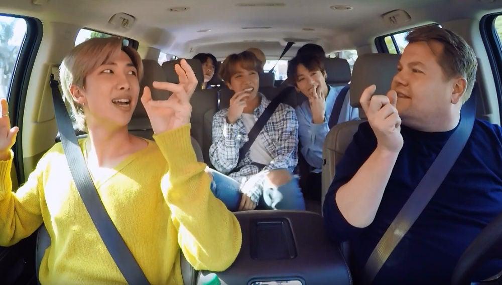 BTS en el Carpool Karoke con James Corden