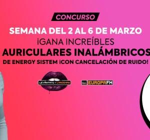 Consigue auriculares inalámbricos de Energy Sistem con Levántate y Cárdenas