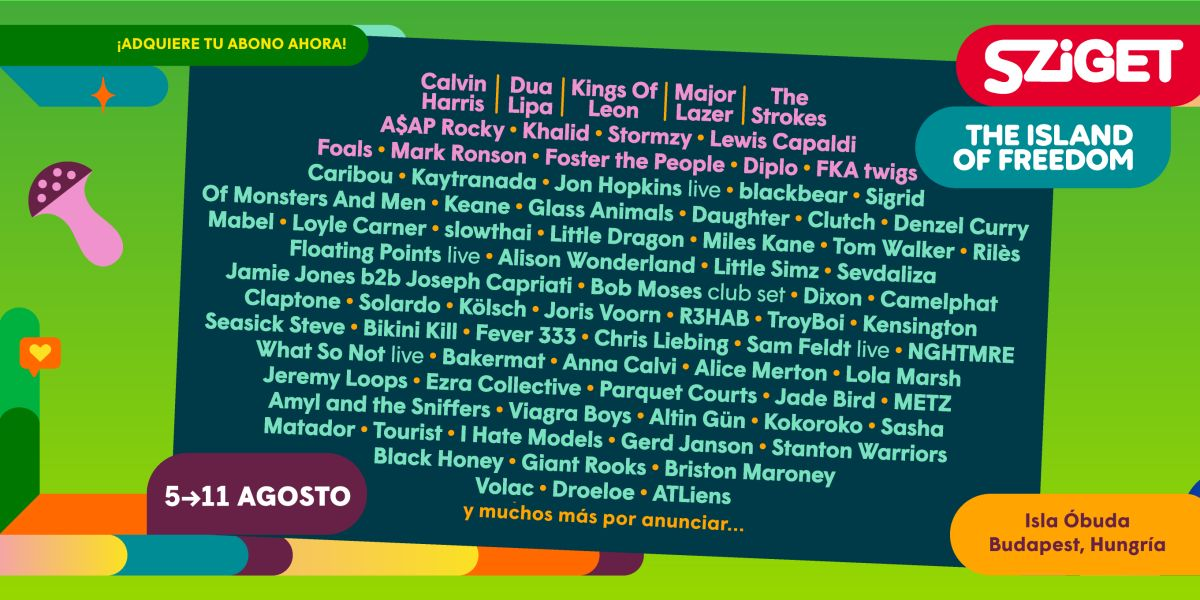 Calvin Harris, Dua Lipa, Kings of Leon, Major Lazer o The Strokes… cartel para Sziget Festival 2020