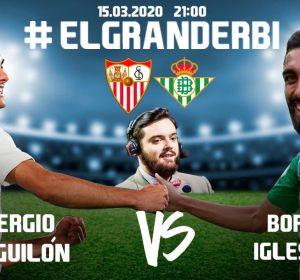 Así fue el gran derbi sevillano entre Sergio Reguilón (Sevilla) y Borja Iglesias (Betis) organizado por Ibai