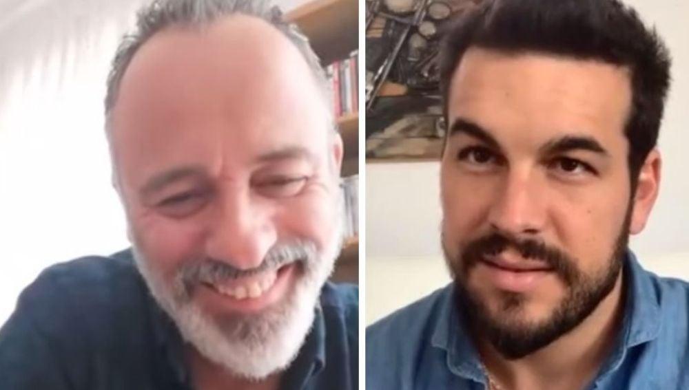 Mario Casas y Javier Gutiérrez en 'yu'