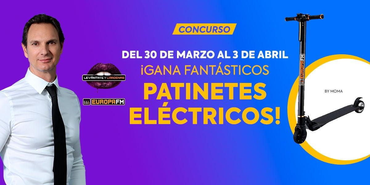 Gana fantásticos patinetes eléctricos MOMA con Levántate y Cárdenas