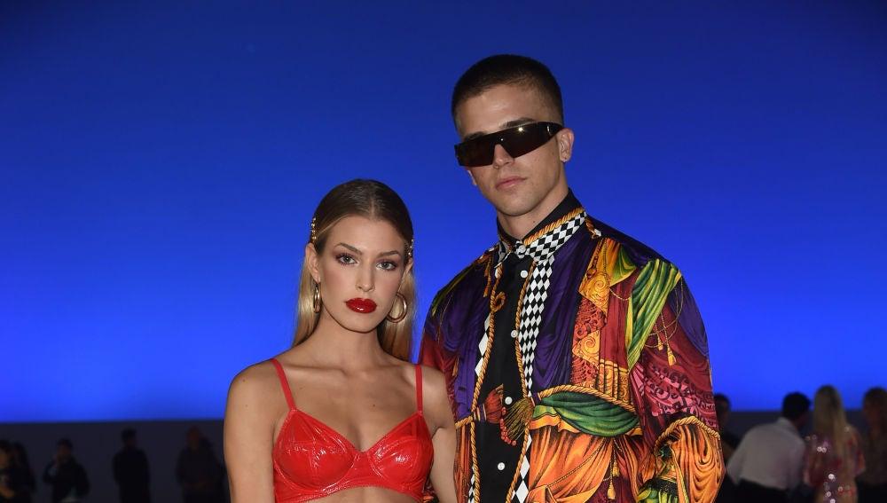 Jessica Goicoechea y River Viiperi en la semana de la moda de Milán 2018