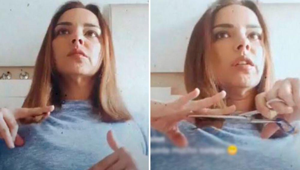 Chenoa se corta el pelo en un LIVE de Instagram