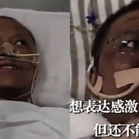 El doctor Yi Fan y el doctor Hu Weifeng, tras recibir el tratamiento
