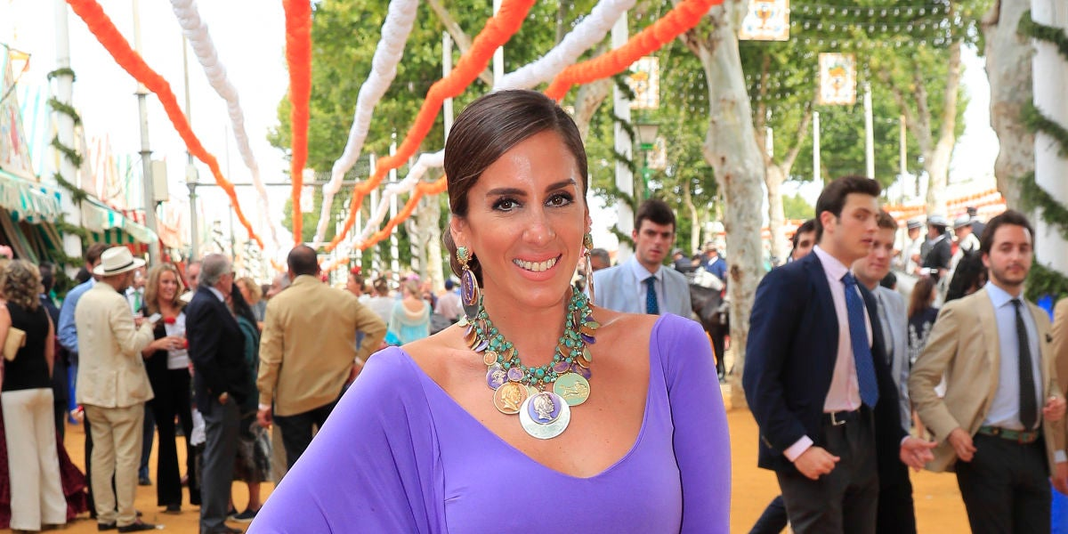 Anabel Pantoja en la Feria de Abril de Sevilla en 2019