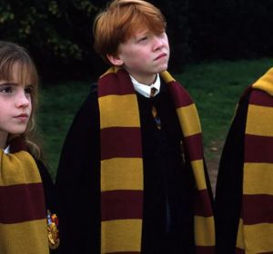 Harry Potter, Ron y Hermione en 'La piedra filosofal'