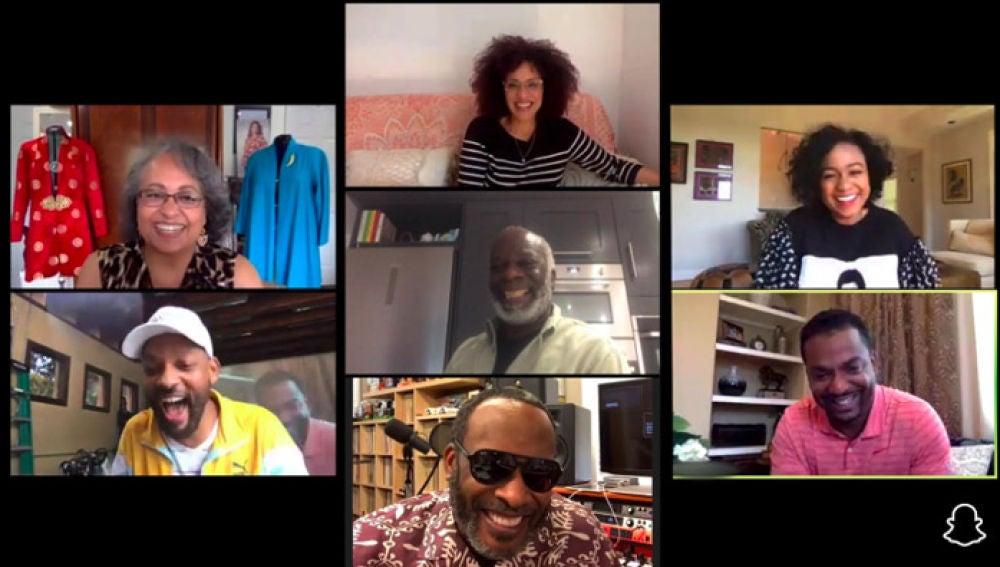Willl Smith reúne al reparto de El Príncipe de Bel-Air en una divertida videollamada