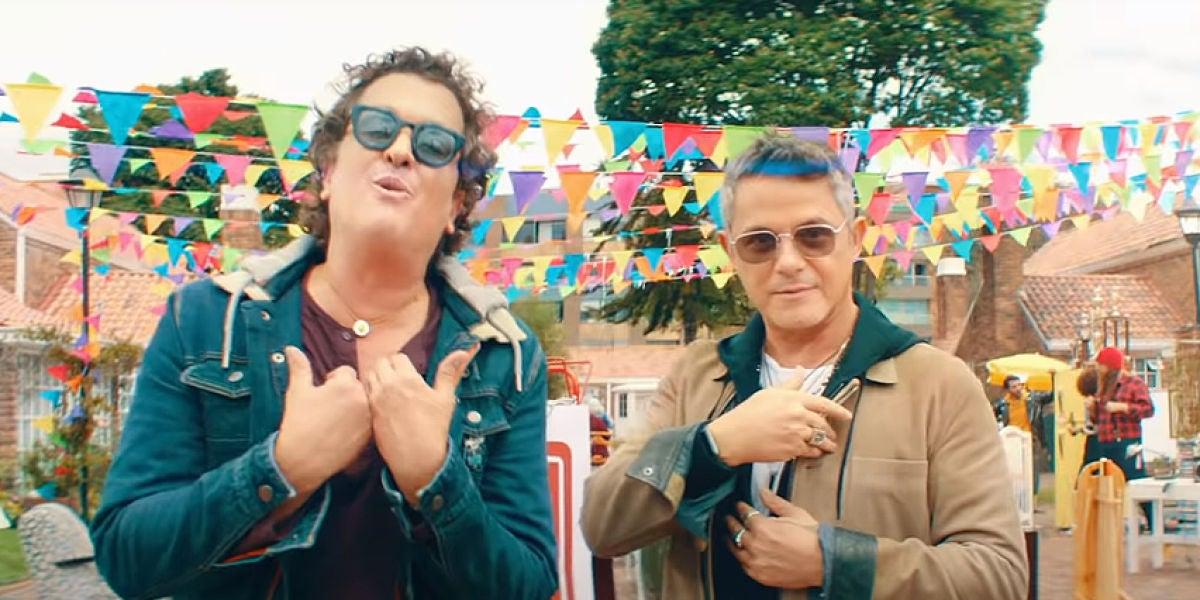 Carlos Vives y Alejandro Sanz en el vídeo de 'For Sale'