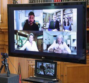 La videollamada de los reyes Felipe y Letizia con Miguel Poveda, David Bisbal y José Mercé