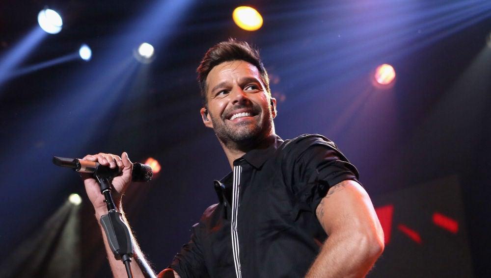 Ricky Martin durante una actuación