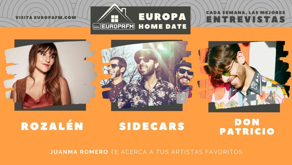 Rozalén, Sidecars y Don Patricio, en Europa Home Date
