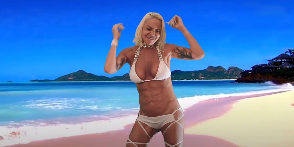 Leticia Sabater en el vídeo de 'Vete pal carajo tra tra'