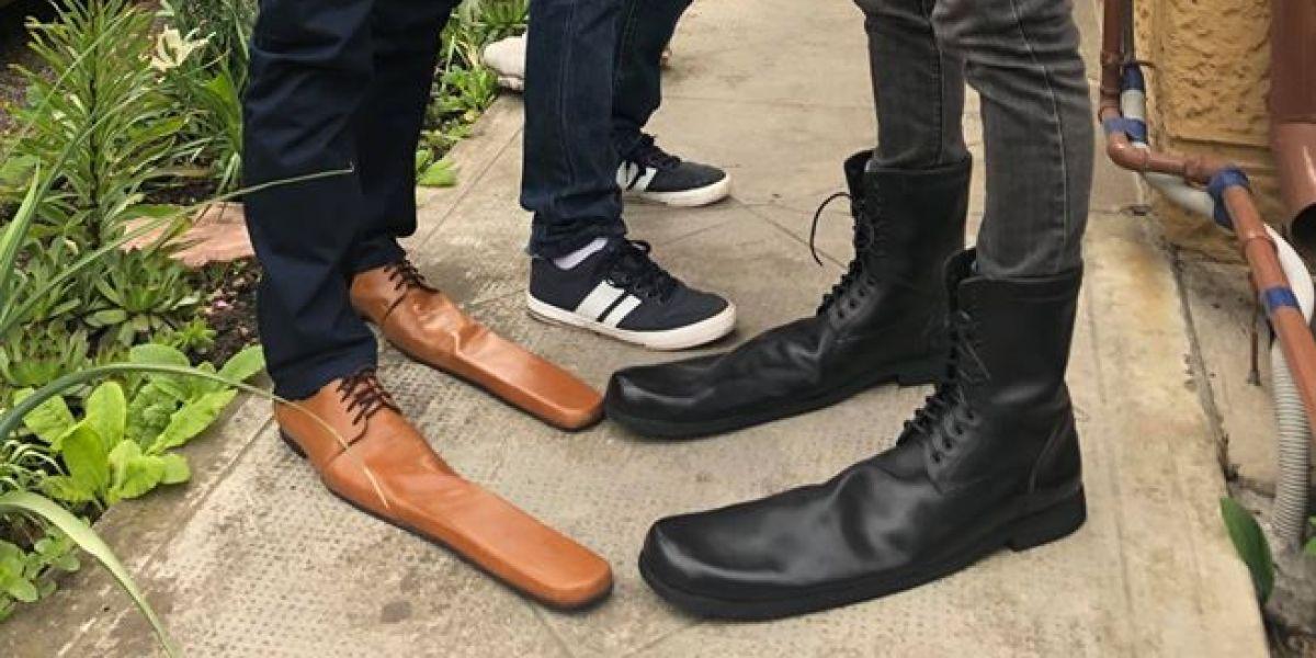 Los zapatos para mantener la distancia de seguridad