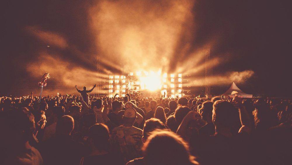 Imagen de un concierto al aire libre