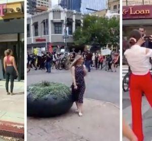 Postureo en medio de las protestas: la bochornosa actitud de algunos influencers