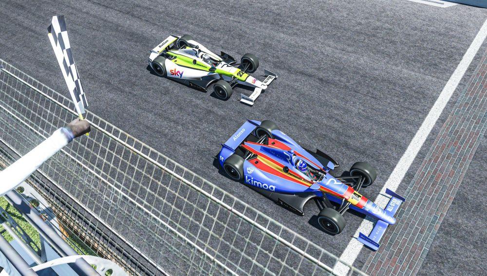 Victoria de Fernando Alonso en Simracing