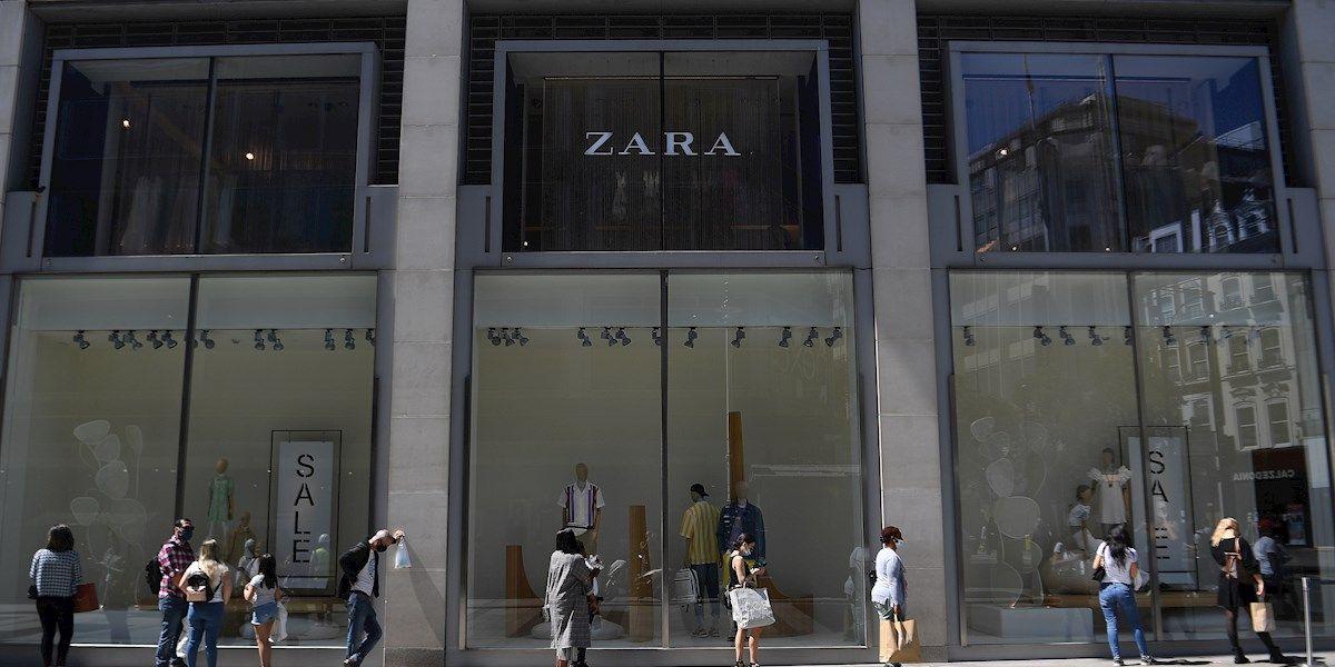 Una tienda de Zara en época de rebajas