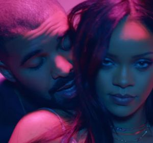 Drake y Rihanna en el vídeo de 'Work'