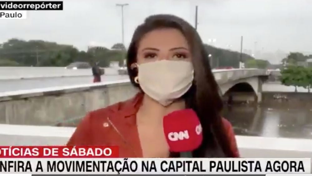 La reportera atracada