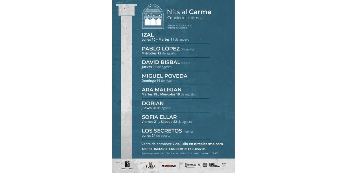 IZAL, David Bisbal, Pablo López, Dorian, Ara Malikian y más artistas en 'Nits al Came'
