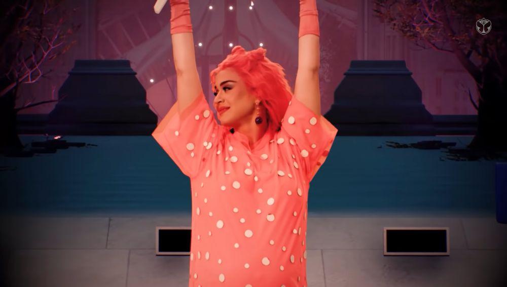 Katy Perry, embarazada en su concierto en Tomorrowland digital