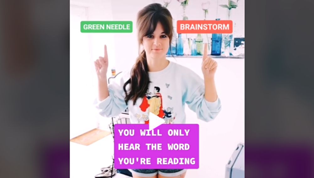 ¿Dice 'Green Needle' o 'Brainstorm'?