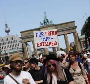 Manifestación en Berlín para pedir el fin de las restricciones por el coronavirus