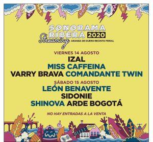 Cartel del Sonorama Ribera 2020