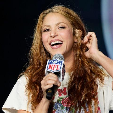 Shakira durante la presentación de la Super Bowl 2020