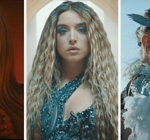 Danna Paola, Lola Indigo y Denise Rosenthal en el vídeo de 'Santería'