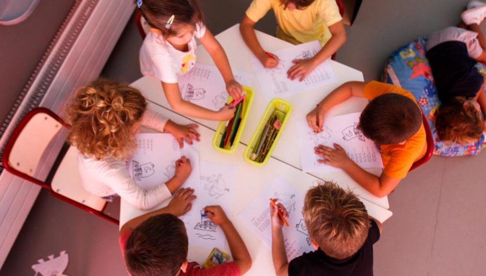 Niños en una actividad extraescolar