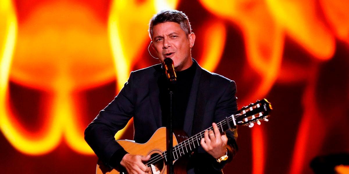 Alejandro Sanz durante una actuación