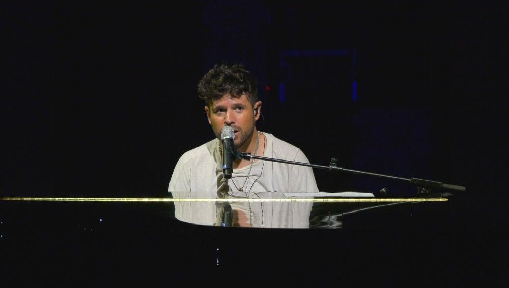 Pablo López durante su concierto en el festival Starlite de Marbella