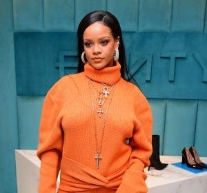 Rihanna durante un evento en Nueva York
