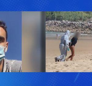 """La surfista detenida por saltarse el confinamiento amenaza al joven que la grabó: """"Puto feo, te vas a enterar"""""""