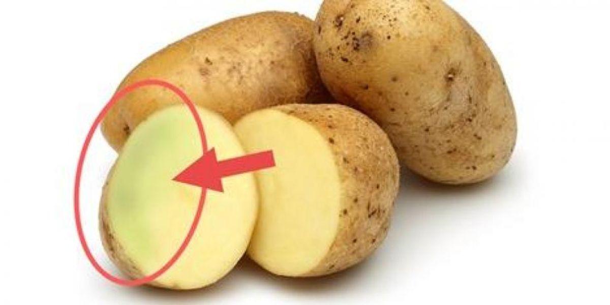 La parte verde de la patata es tóxica, no te la comas