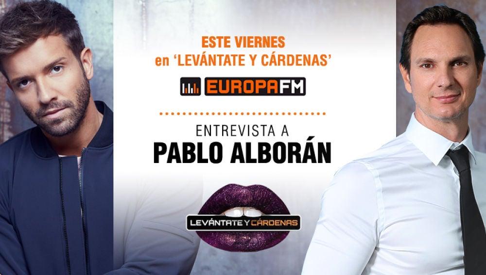 Pablo Alborán en Levántate y Cárdenas