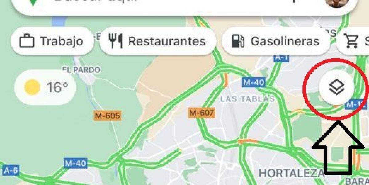 Función 'Capas' de Google Maps