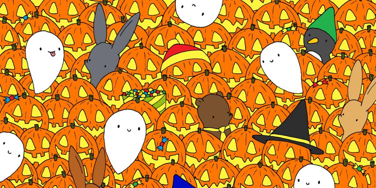 Reto visual: ¿Eres capaz de encontrar la estrella entre las calabazas de Halloween?